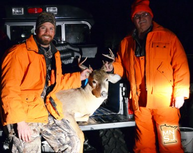 Ronald Burg with Bret T-Bone Amundson, near Moorhead, MN