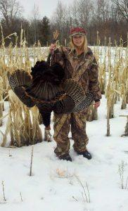 Dacia Doroff with her MN turkey
