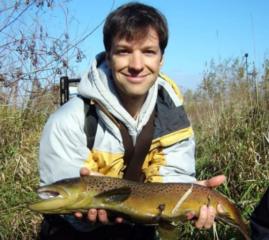 Brian Nerbonne with a Vermillion River brown trout