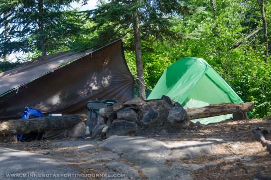 BWCA campsite.  Photo by Wade Amundson