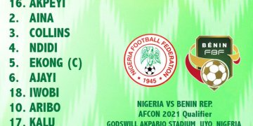 Breaking: Super Eagles beat Benin 2-1