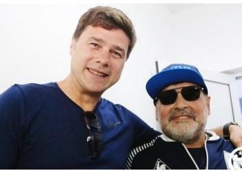 Pochettino hangs out with Maradona before Argentina Superliga clash