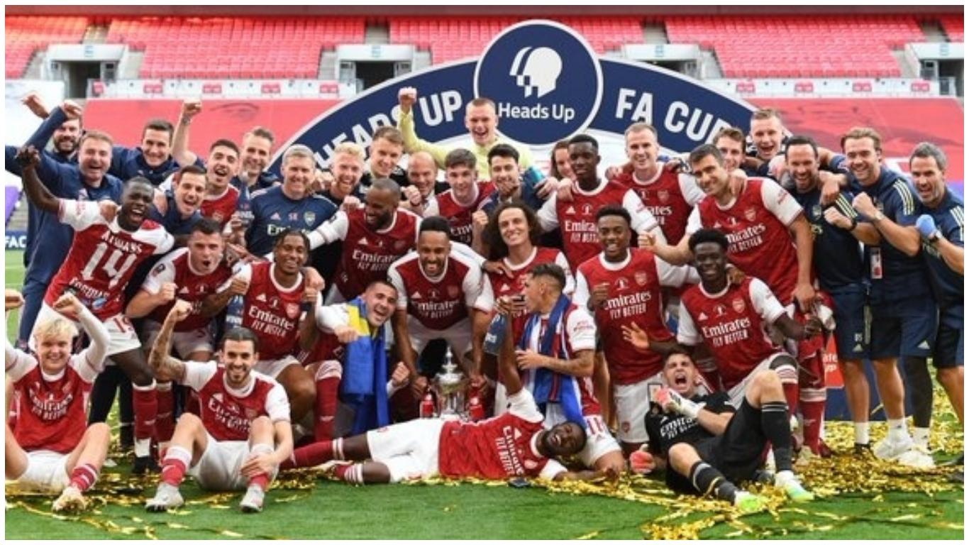 mikel arteta s arsenal lifts 2019 20 fa cup