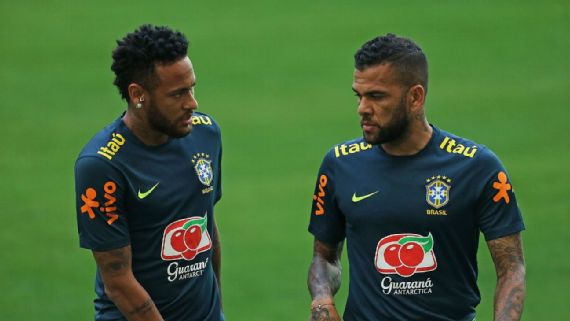 Dani Alves, 38, headlines Brazil's Olympic squad