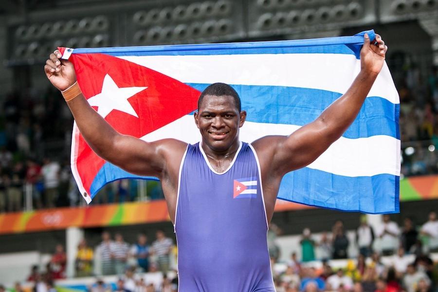 Cuba's Nunez wins historic fourth gold in 130kg Greco-Roman wrestling