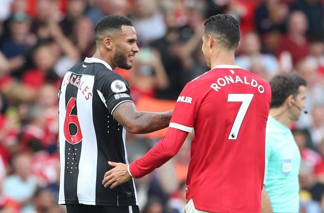 Ronaldo and Newcastle player