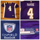 Reebok On Field Minnesota Vikings Brett Favre #4 Men's Purple NFL Jersey Sz 2XL