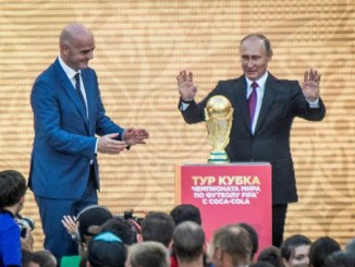 World Cup trophy starts worldwide tour in Moscow