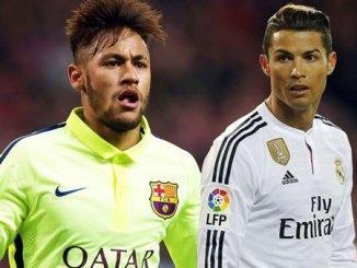 Neymar with Ronaldo