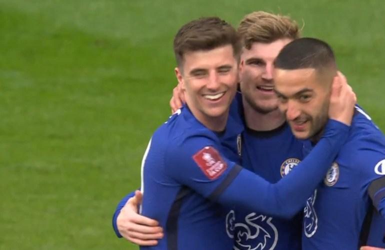 Hakim Ziyech schiet Chelsea naar finale FA Cup