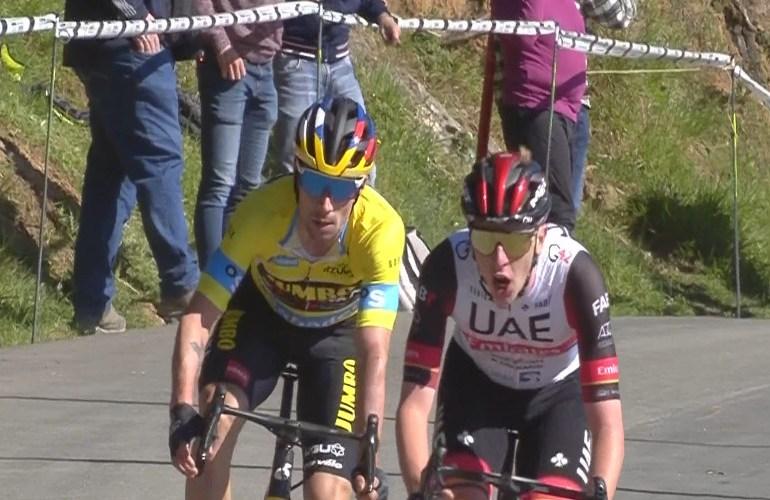 Pogacar klopt Roglic in derde etappe in het Baskenland