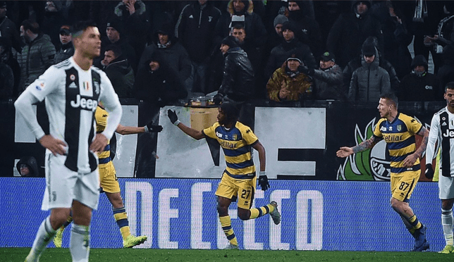 Ronaldo scored twice for Juve but a stunning late goal from Gervinho secured a point for Parma secured — Soccer
