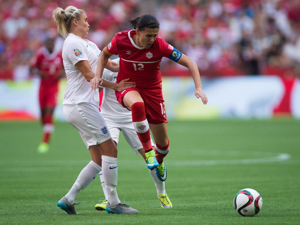 Canada captain Christine Sinclair scores goal No. 180 in 1-0 win over England — National Post