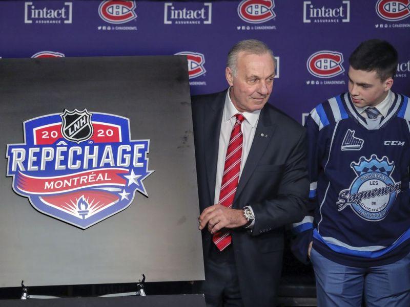 Canadiens legend Guy Lafleur helps unveil logo for 2020 NHL draft — Montreal Gazette