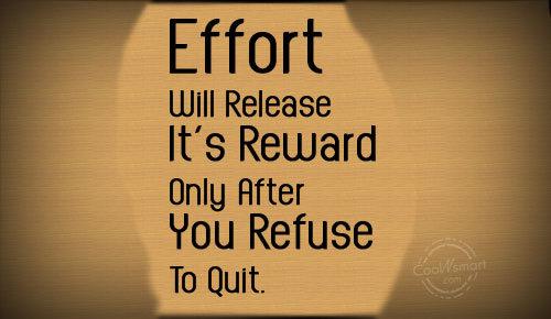 EFFORT Quote !