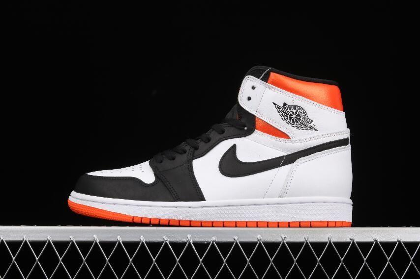 Newest Air Jordan 1 Retro High OG Black Toe Shattered Backboard White Orange 555088-180 Sneakers — Fresh Sneakers Kicks
