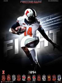 Illinois Football Poster