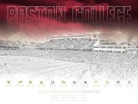 Boston College Football Spring Poster