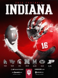 Indiana Football Poster
