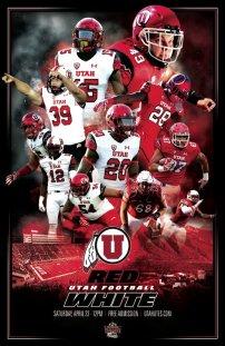 Utah Football Spring Poster