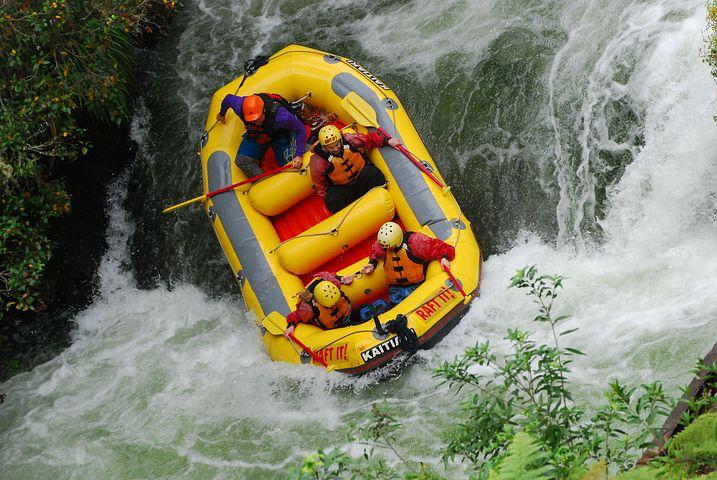 organisational change, white water rafting