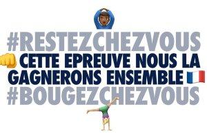 La famille olympique et paralympique unie pour inciter les Français à #BougezChezVous