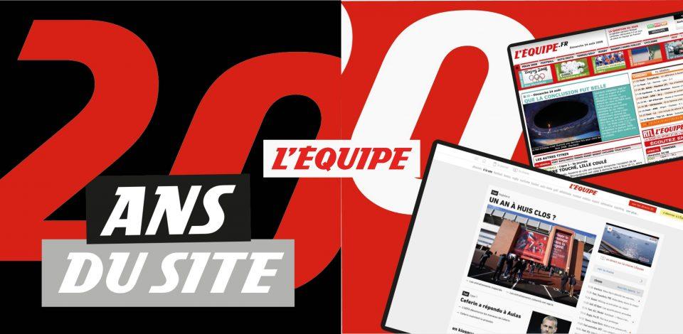 L'Équipe.fr fête ses 20 ans