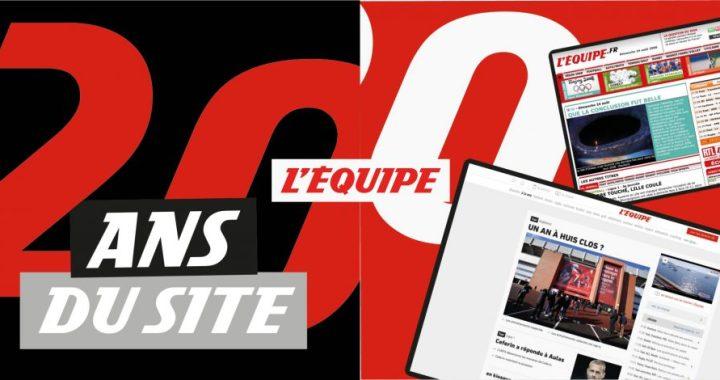 Le journal L'Équipe fête les 20 ans de son site internet