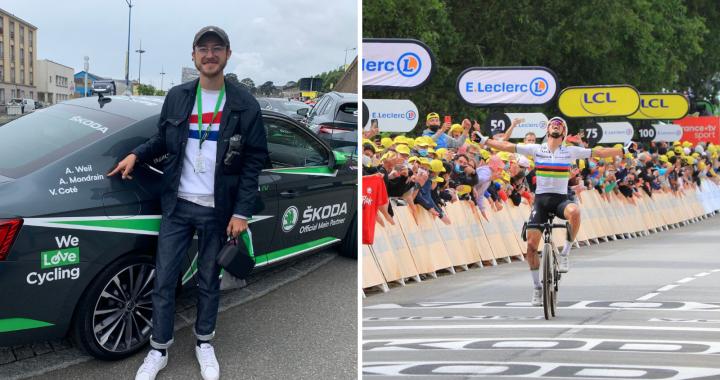 Une journée de rêve sur le Tour de France 2021 avec Škoda