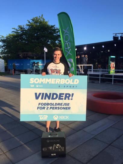 Claes Hansen blev vinderen af Sommerbold Esport 2016.
