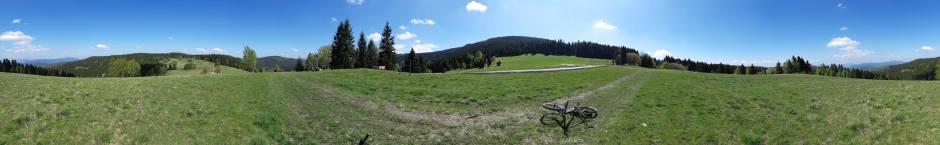 Panorama na szczycie Pasiecznika