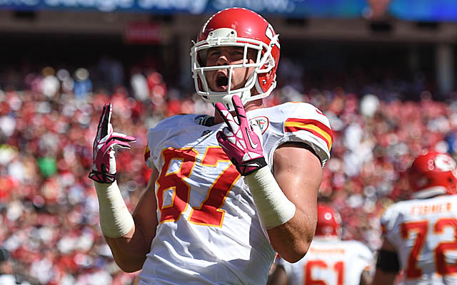 LOOK Chiefs TE Travis Kelce Does The Ric Flair Strut