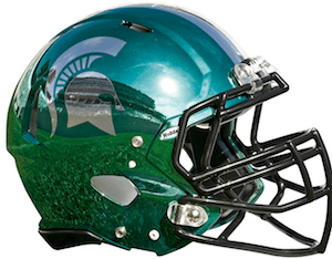 Michigan State Busted Out New Hydrochrome Helmets For Itsagainst Rival Michigan On Saturday