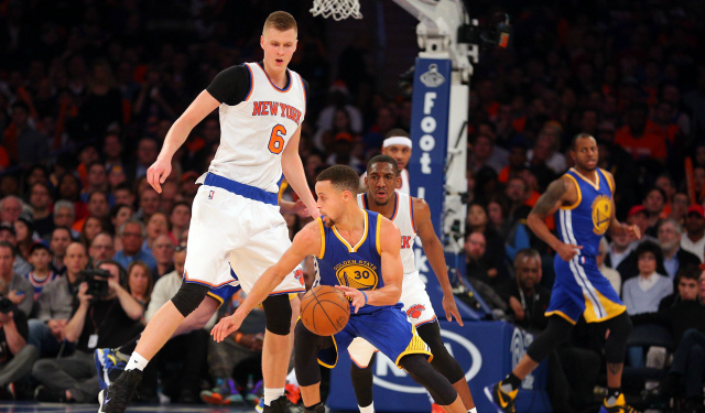 Image result for curry porzingis