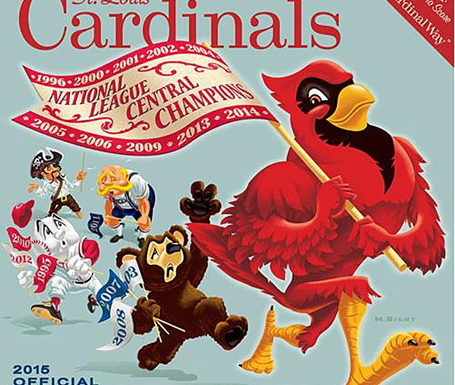 So Weve Got The Big Bad Cardinal Walking With A Flag That Shows All Their Nl Central Championship The Cubs Bear Follows With His Three Just As The Reds
