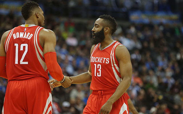 Dwight Howard and James Harden haven't stepped up for the Rockets this season.  (USATSI)