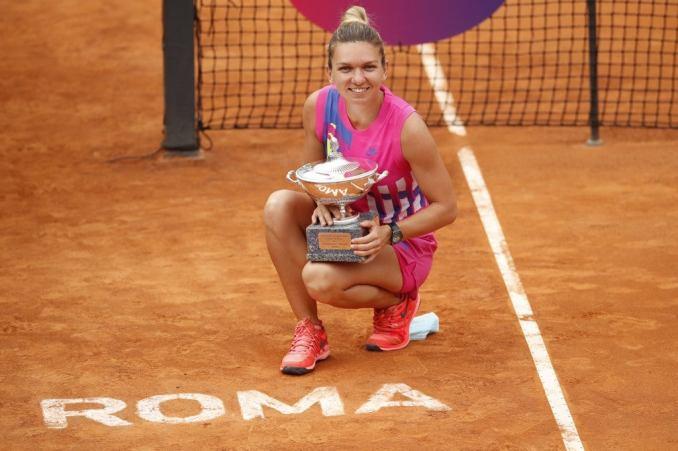 Halep wins Italian Open as defending champ Pliskova retires