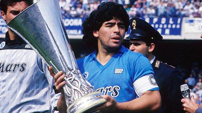 Napoli have renamed their stadium after late club legend Diego Maradona