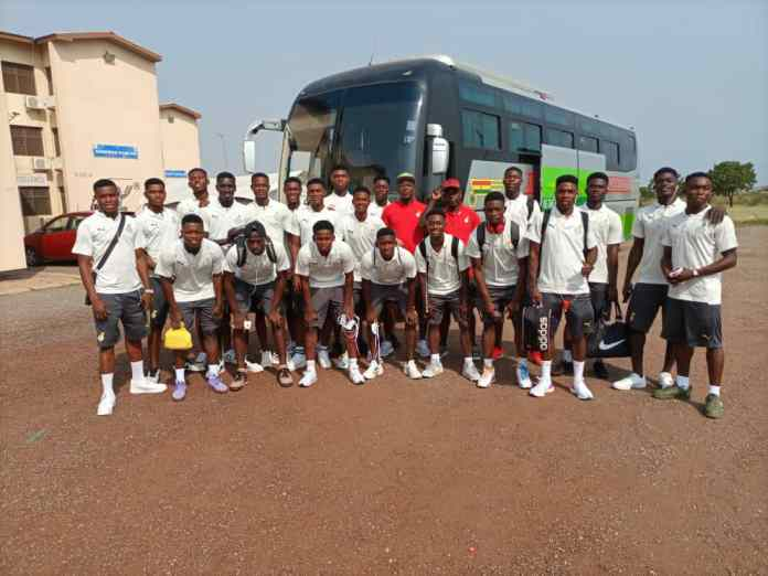 Ghana's male U-17 team, Black Starlets departed Accra on Tuesday, January 5, 2020 for Kegue, Togo for the 2021 WAFU Zone B Cup of Nations.