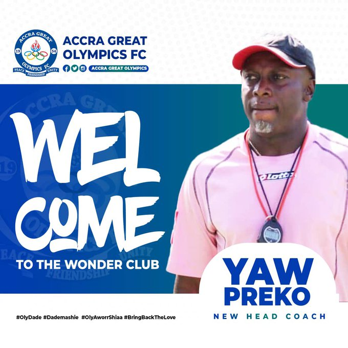 Ghana Premier League club, Accra Great Olympics have appointed Yaw Preko as Head Coach