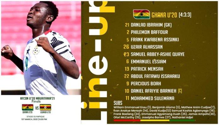 Ghana line-up