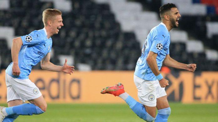 Riyad Mahrez's free-kick put City in front