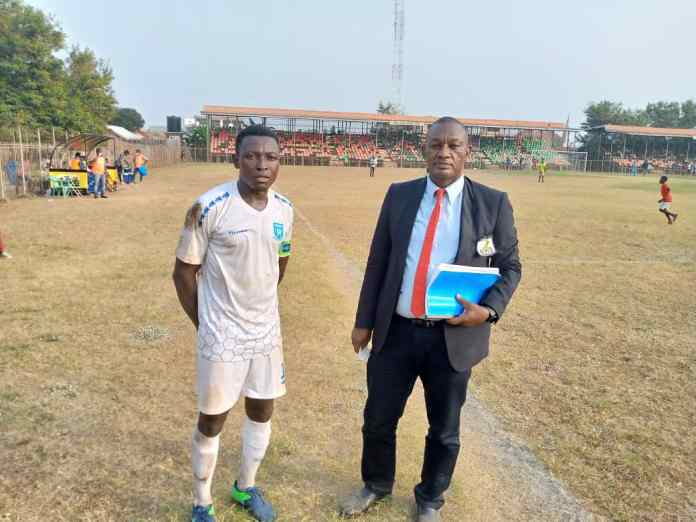 Real Tamale United's midfield star and captain Hardi Abdulai Mohammed (left)