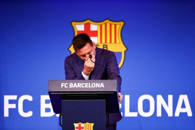 Tearful Lionel Messi