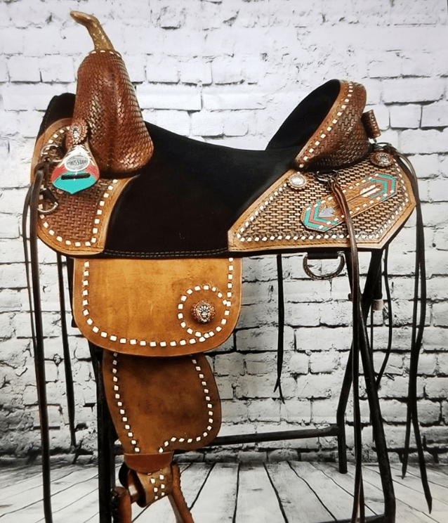 Genuine Bob Marshall Original Treeless Barrel Racer Sports Saddle