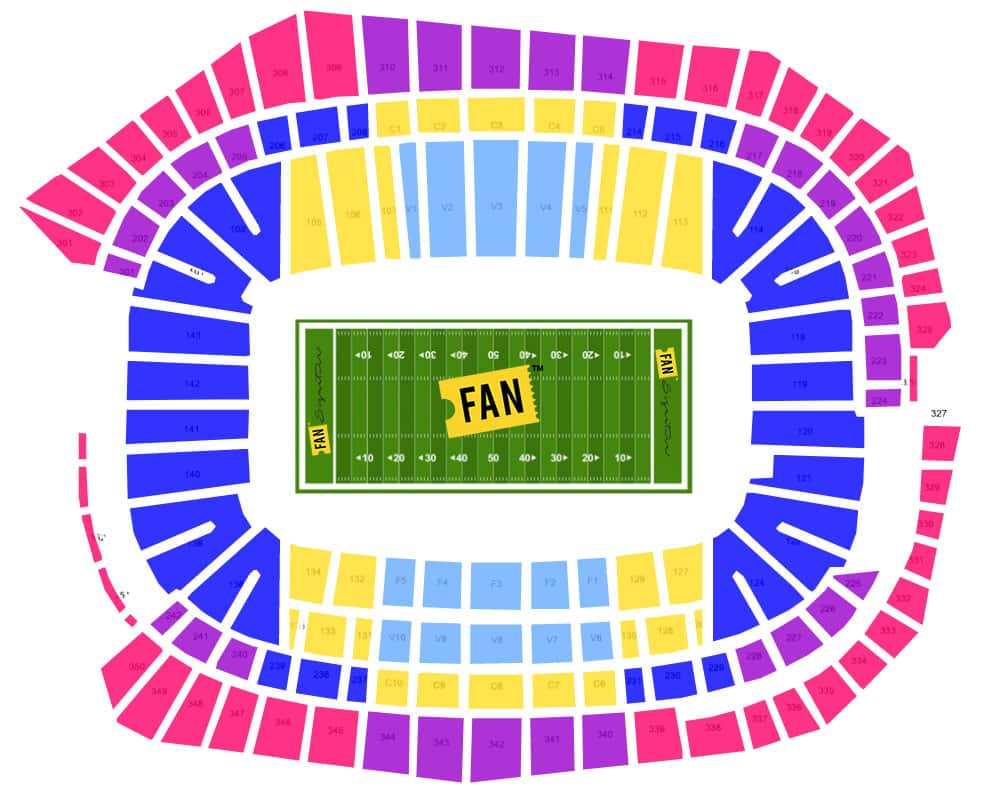 Super bowl seating chart sports entertainment travel