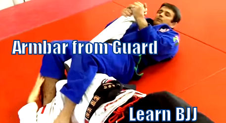 Brazilian Jiu Jitsu Armbar from Guard
