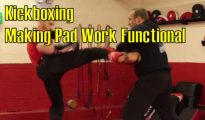 How to train Kickboxing with a pad target