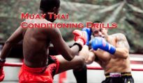 This is Muay Thai training