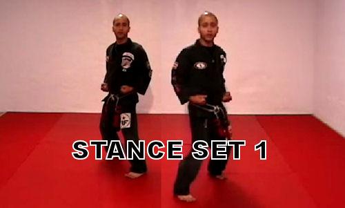 Stance set 1 in American Kenpo Karate